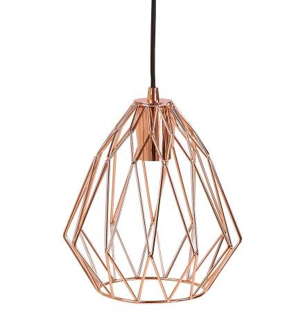Koperkleurige, design hanglamp 'CHIPCHIP'