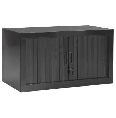 Klein 'CLASSIFY' lage bureau kast, donkergrijs - 44x80 cm