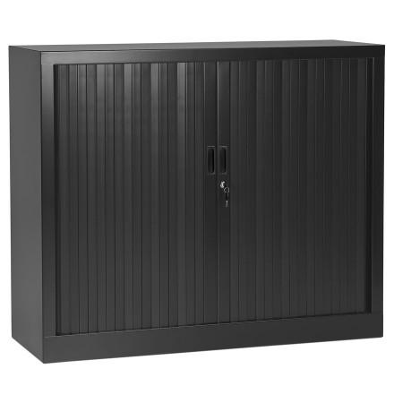 Lage kantoorkast met roldeur 'CLASSIFY' donkergrijs - 100x120 cm