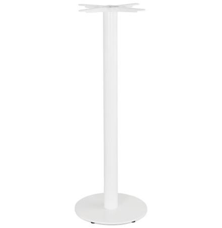 CORTADO' 110 tafel met ronde voet in wit metaal binnen/buiten