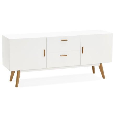 Witte, houten, design buffetkast DIEGO in Scandinavische stijl - Alterego