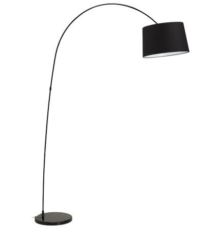 Boogvormige, zwarte design staanlamp 'EKLIPS'