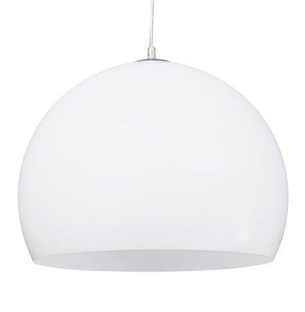 Bolvormige hanglamp 'ELMET' van witte kunststof