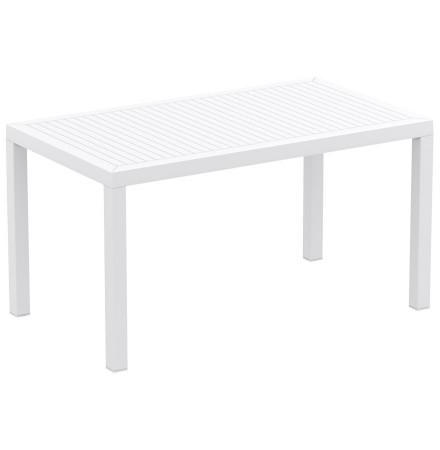 Witte design tuintafel 'ENOTECA' uit kunststof - 140x80 cm