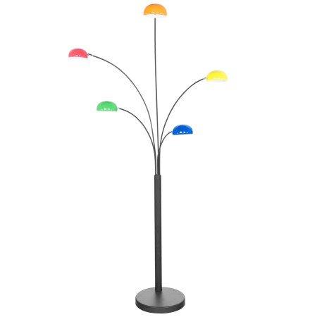 Veelkleurige lamp 'FIVE BOWS' met 5 armen