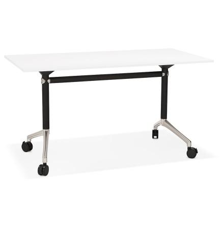 Opvouwbaar bureau 'FLEXO' wit op wielen - 140x70 cm