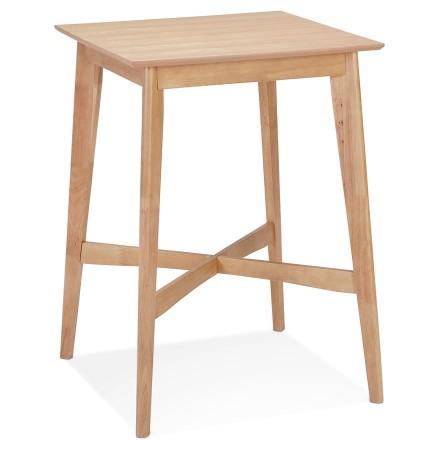 Hoge tafel 'GALLINA' van natuurlijk afgewerkt hout