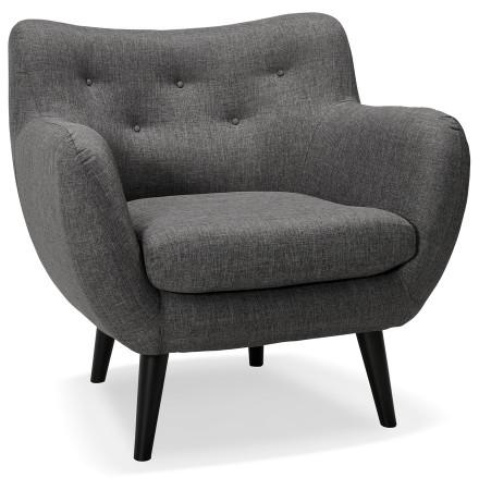 Fauteuil voor de woonkamer 1 zitplaats 'GASPARD MINI' in donkergrijze stof