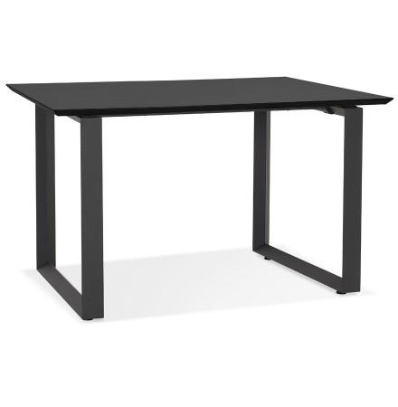 Rechte directiebureau 'GIMINI' van hout en zwart metaal - 130x70 cm