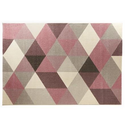 Design tapijt 'GRAFIK' 160/230 cm met roze grafische motieven