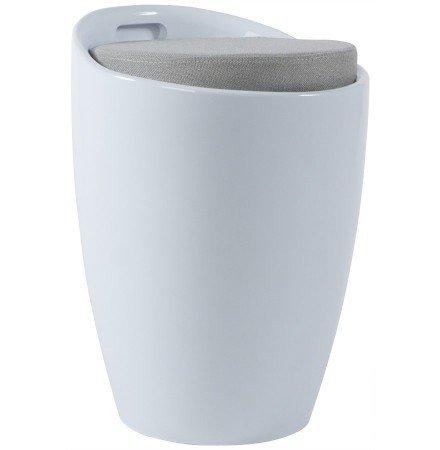 Wit bijzetkrukje met opbergruimte 'GUM'