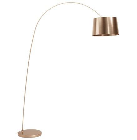 Boogvormige, copper design staanlamp 'KALIPSO'