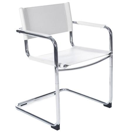 Witte vergaderstoel / bezoekersstoel 'KA' voor kantoor of vergaderrruimte