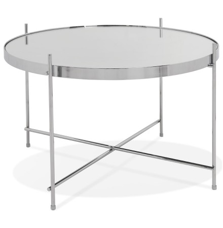 Lage tafel 'KOLOS MEDIUM' chroomkleurig