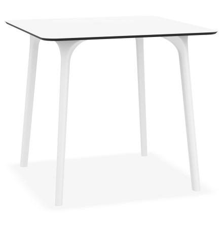 Vierkante terrastafel 'LAGOON' wit voor binnen / buiten - 80x80xcm