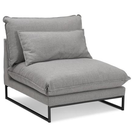 Grote loungefauteuil 'LASKA' van lichtgrijze stof met 1 plaats
