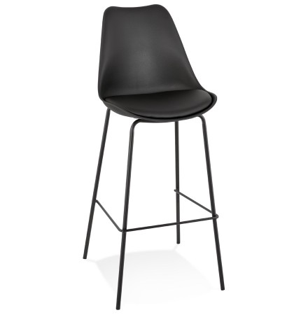 Zwarte design barkruk 'LEMON'