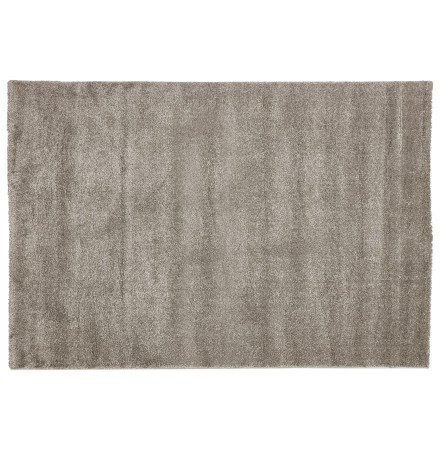 Erg zacht, grijs hoogpolig design tapijt 'LILOU' 160x230 cm