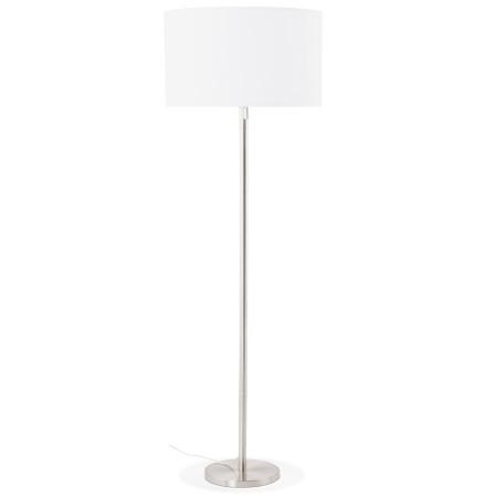 Witte, in de hoogte regelbare, design staande lamp 'LIVING BIG'