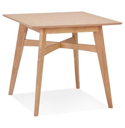 Vierkante eettafel 'MAEVA' van natuurlijk afgewerkt hout - 80x80 cm