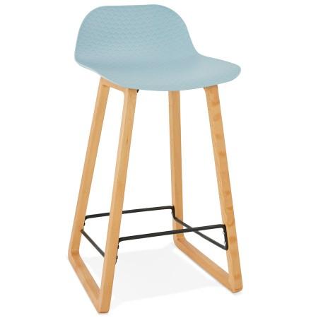 Halfhoge kruk 'MAKI MINI' blauw Scandinavische stijl