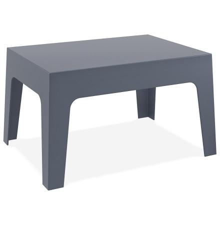 Lage, donkergrijze tafel 'MARTO' uit kunststof