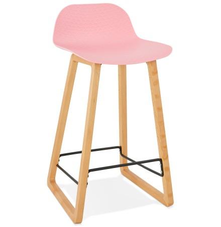 Halfhoge kruk 'MAKI MINI' roze Scandinavische stijl