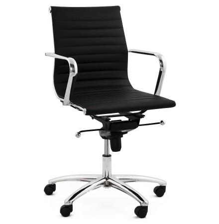 Design bureaustoel MEGA in zwart kunstleder - Alterego