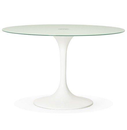 Ronde, witte design eettafel ALEXIA - Ø 120 cm
