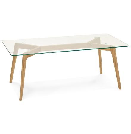 Lage design salontafel 'MOLY' van glas