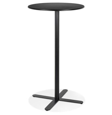 Zwarte ronde hoge tafel 'MORTI' van metaal - Ø 60 cm