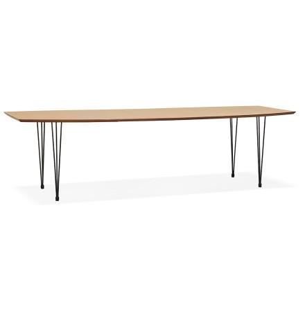 Uitschuifbare eettafel / vergadertafel 'MOTUS' van hout met natuurlijke afwerking - 170(270)x100 cm