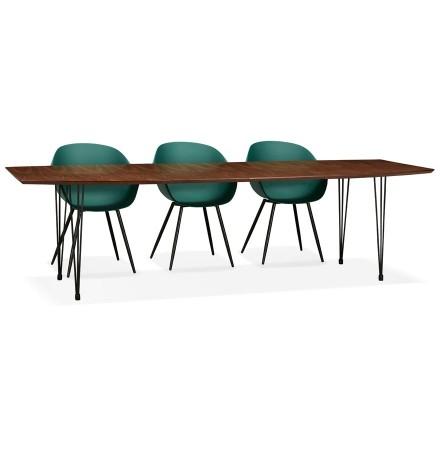 Uitschuifbare eettafel / vergadertafel 'MOTUS' met notenhouten afwerking - 170(270)x100 cm