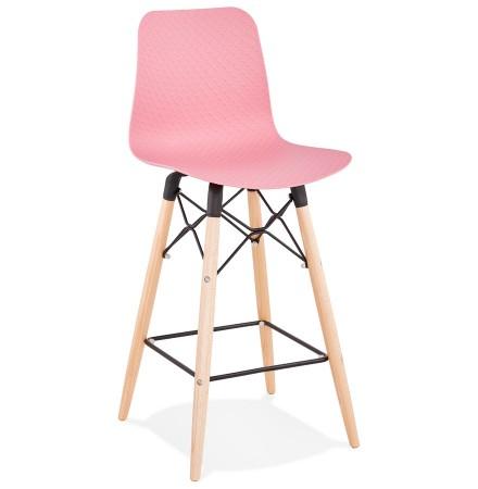 Halfhoge kruk 'MOZAIK MINI' roze Scandinavische stijl