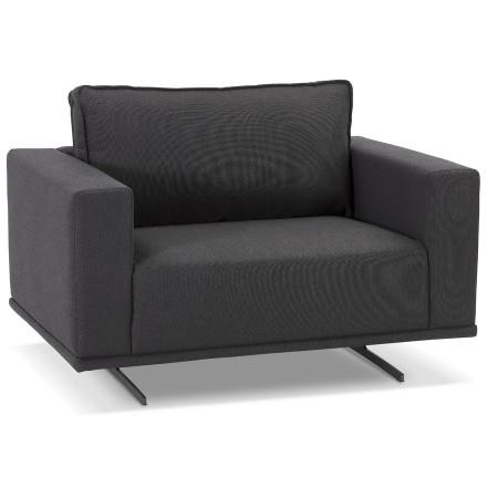 Donkergrijze design fauteuil 'MOZART MINI' 1,5 plaats