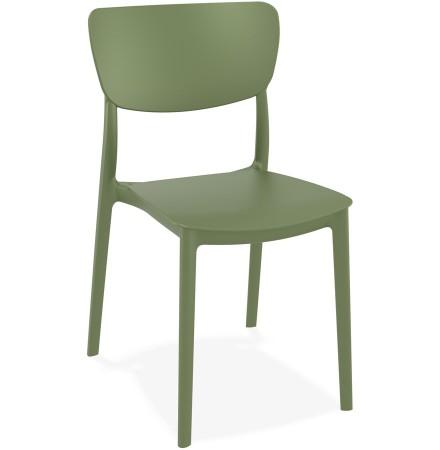 Keukenstoel 'OMA' van groene kunststof