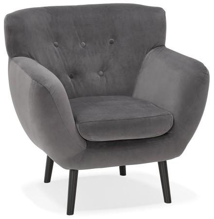 1-persoons stoel 'OPERA MINI' in donkergrijs fluweel