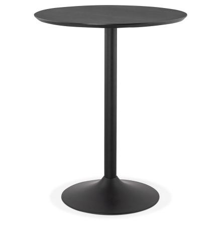 Staantafel / hoge tafel 'OSTERIA' zwart - Ø 90 cm