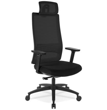 Ergonomische bureaustoel 'OXFORD' van zwarte stof