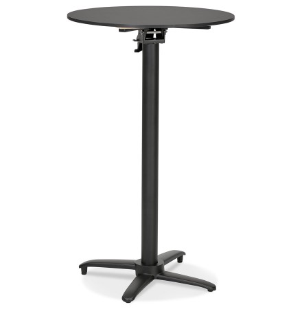 Opvouwbare hoge ronde zwarte tafel 'PAXTON' - 68x68 cm