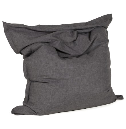 Reuzenpoef 'PILO' uit grijze chenille stof 135x175 cm