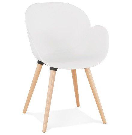 Witte stoel met Scandinavisch design PICATA - Alterego