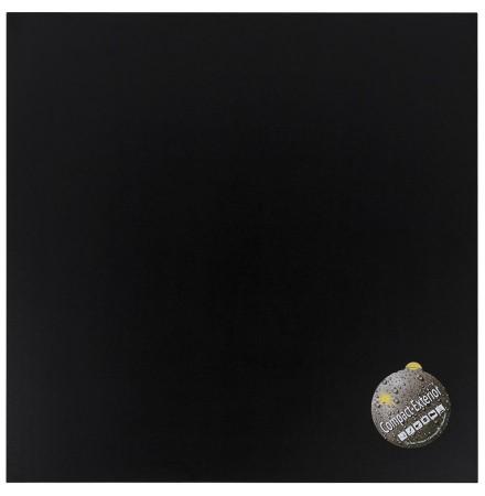 Zwart, vierkant tafelbad 'PLANO' 68x68cm uit gecompresseerd hars