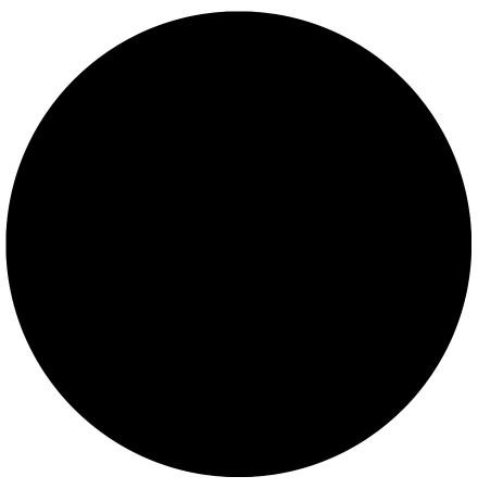 Zwart, rond tafelblad 'RINGO' Ø 60cm