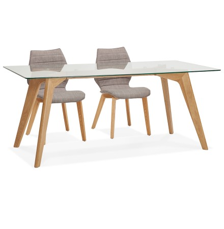 Glazen design eettafel 'SALTO' - 180x90 cm