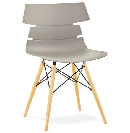 Moderne, grijze stoel 'SOFY' in Scandinavische stijl