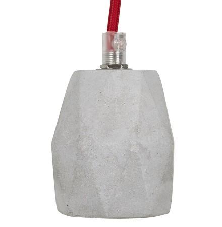 Grijze design fitting 'SOKET' met betoneffect