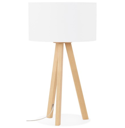 Tafellamp 'SPRING MINI' op driepoot met witte lampenkap in Scandinavische stijl