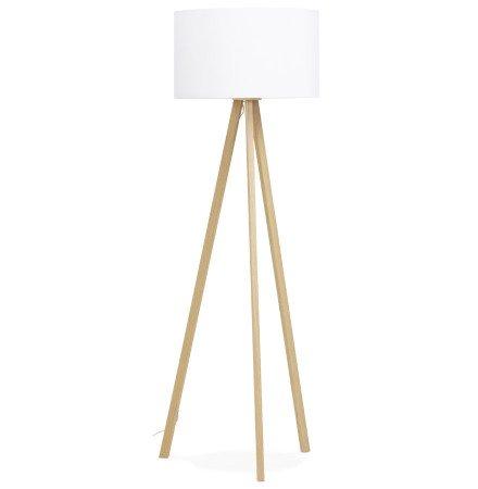 Staande lamp op driepoot SPRING witte en naturel - Foto 2