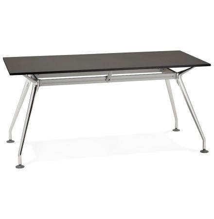 Recht modern bureau 'STATION' met een zwart, houten tafelblad - 160x80 cm